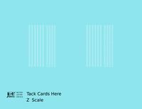 Tack Cards Here Markings  White  - Decal - Choose Scale