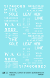 Wellsville, Addison and Galeton Single Sheathed Boxcar White Sole Leather Line - Decal - Choose Scale