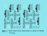 West India Fruit & Steamship Co. Wood Ice Reefer Black  - Decal - Choose Scale
