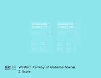 Western Railway Of Alabama 40 Ft Boxcar White West Point Route - Decal - Choose Scale