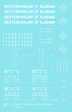 Western Railway Of Alabama 40 Ft Boxcar White West Point Route - Decal Sheet