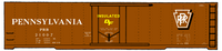 Pennsylvania PRR X53 50 Ft Insulated Boxcar Shadow Herald - Decal