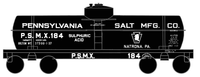 Pennsylvania Penn Salt Sulphuric Acid Tank Car White - Decal