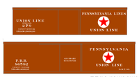Pennsylvania Union Line Early Wood Boxcar White - Decal