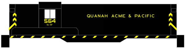 K4 N Decals Quanah Acme and Pacific Hood Diesel Yellow Frisco Scheme