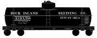 Rock Island Refining Co Duncan Oklahoma Tank Car White - Decal
