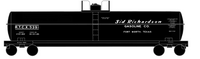 Sid Richardson Gasoline ICC-105A Tank Car White - Decal