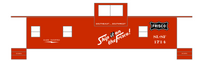 SLSF Frisco Caboose White - Decal
