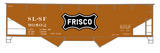 SLSF Frisco Twin Hopper Car White Large Herald - Decal