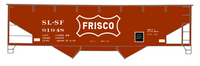 SLSF Frisco Offset Twin Hopper White Unfilled Herald - Decal