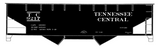 Tennessee Central Offset Twin Hopper White - Decal