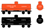 Union Tank Line Class X Tank Car White - Decal