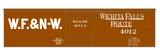 Wichita Falls & Northwestern 36 Ft Boxcar White Wichita Falls Route - Decal