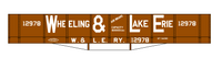 Wheeling and Lake Erie Wood Coal Gondola White - Decal