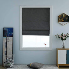Load image into Gallery viewer, North Hills Home Washable Blackout Cordless Roman Shades for Windows, Double Tone Color Jacquard Textured Woven Polyester Belmar Romar Blind for Living Room/Bedroom