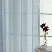 Load image into Gallery viewer, North Hills Home Soft Jacquard Semi Sheer Curtains with Grommet, Linen Textured Panels Voile for Bedroom Window,