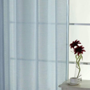 North Hills Home Soft Jacquard Semi Sheer Curtains with Grommet, Linen Textured Panels Voile for Bedroom Window,