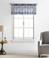 Load image into Gallery viewer, North Hills Home Floral Rose Embroidery Sheer Valance Curtains for Windows, Rod Pocket Valance