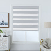 Load image into Gallery viewer, North Hills Home Polyester Premium Blackout Zebra Shade Off White/ Soft Gold/ Pewter Gray