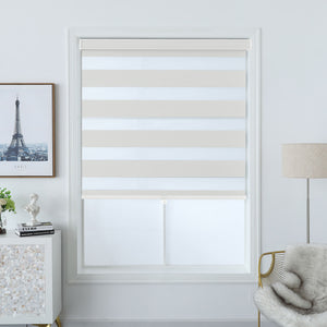 North Hills Home Polyester Premium Blackout Zebra Shade Off White/ Soft Gold/ Pewter Gray
