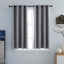 Load image into Gallery viewer, North Hills Home Grommet Panel Curtains Ash Grey/Stone/Pewter/Indigo Blue Belmar For Indoor and Commercial Use