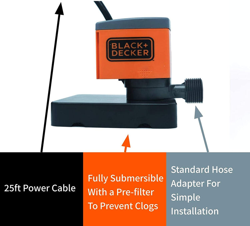 Black & Decker 350 GPH Pool Cover Pump