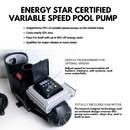 1.5HP Energy Star Variable Speed In Ground Blue Torrent Cyclone Swimming Pool Pump (Qualifies for Utility Rebates)
