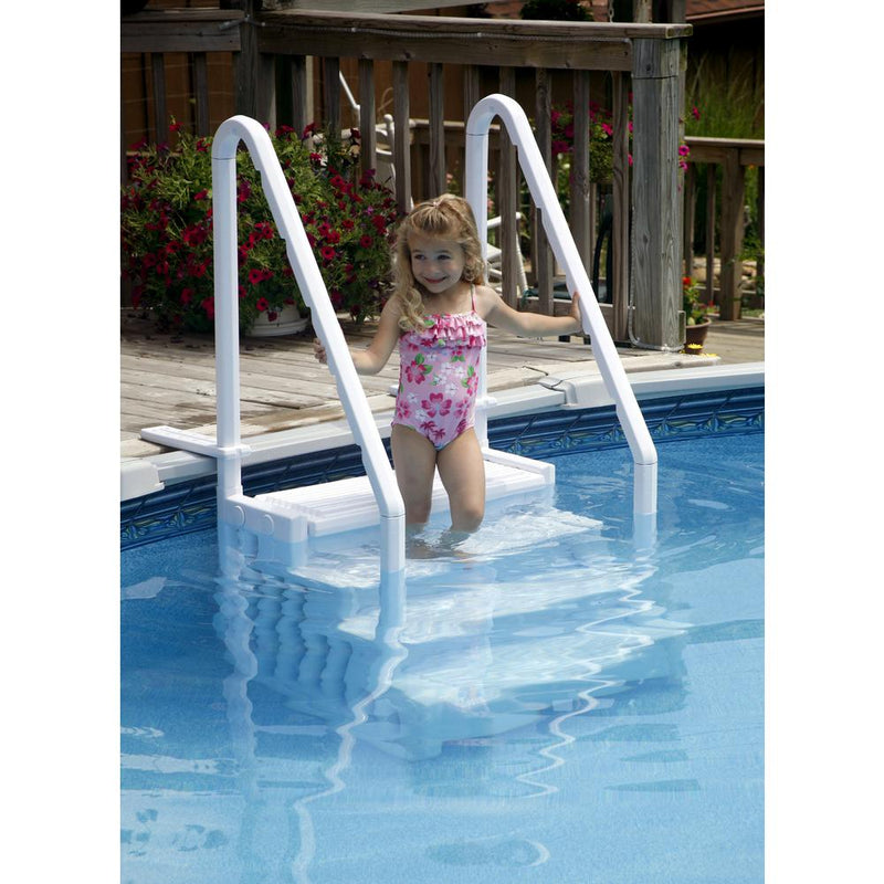 Easy Pool Step Ladder for Above-Ground Pools