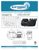 1.5 HP Energy Star Certified Variable Speed In Ground Blue Torrent Typhoon IMP Swimming Pool Pump Qualifies for Utility Rebates Includes 100% Lifetime Warranty
