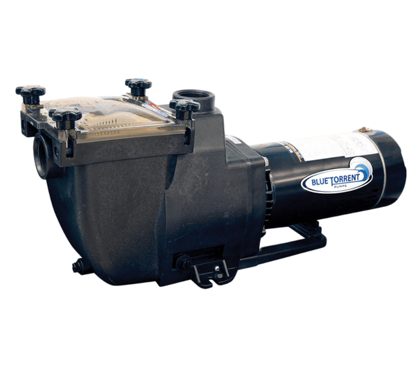 1.5 HP Blue Torrent Typhoon 48 Frame In Ground Pump Drops In For Hayward Super Pump Plumbing