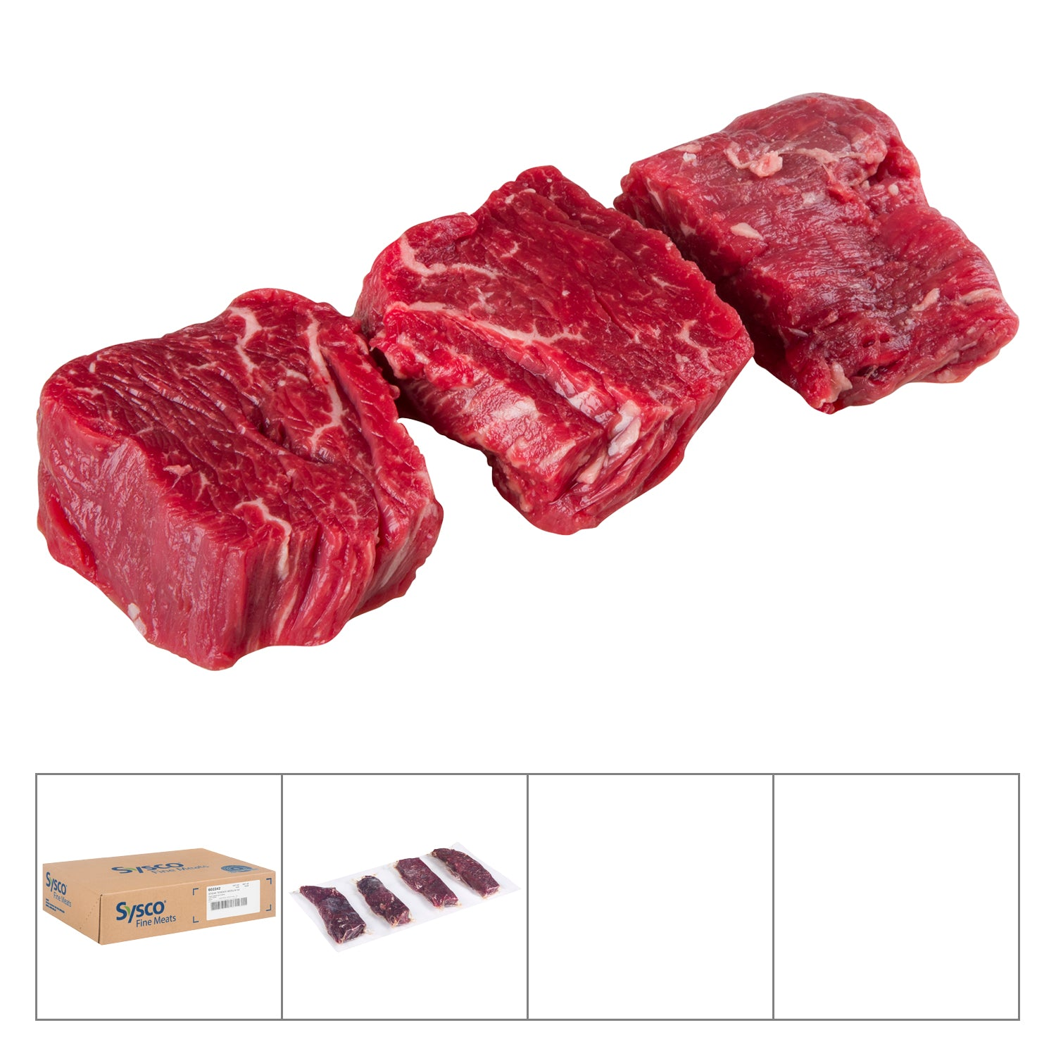 Sysco Fine Meats Frozen Tenderloin Steak Medallion 60 count - 1 Pack [$36.99/kg]
