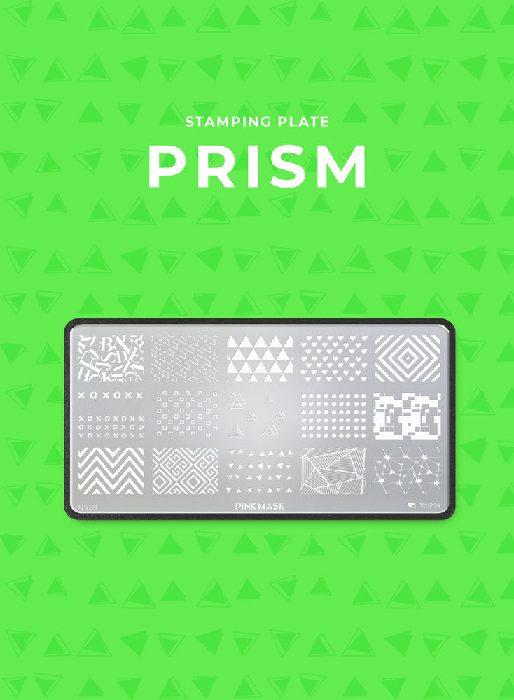 Load image into Gallery viewer, Stamping Plate: PRISM - Pink Mask USA - Stamping Plates - Gel Polish