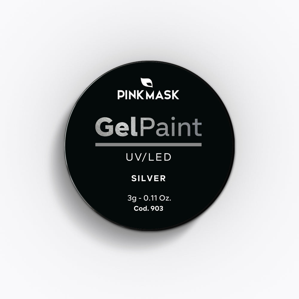 Load image into Gallery viewer, Gel Paint - Silver - Pink Mask USA - Gel Paint - Gel Polish