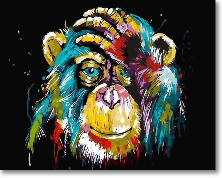 Colorful Chimp - Paint By Numbers