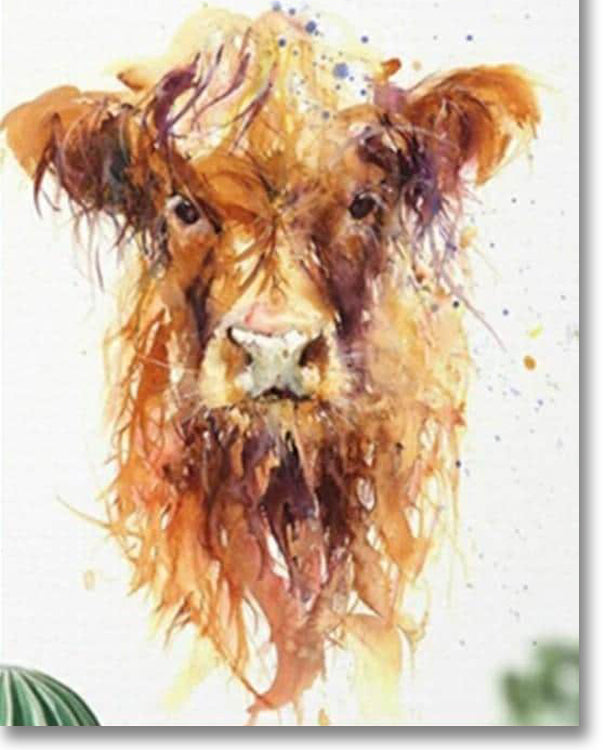 Messy Cow - Paint By Numbers