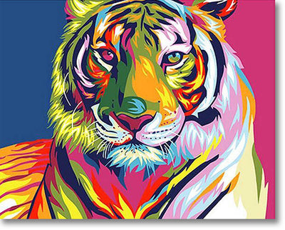 The Colorful Tiger - Paint By Numbers
