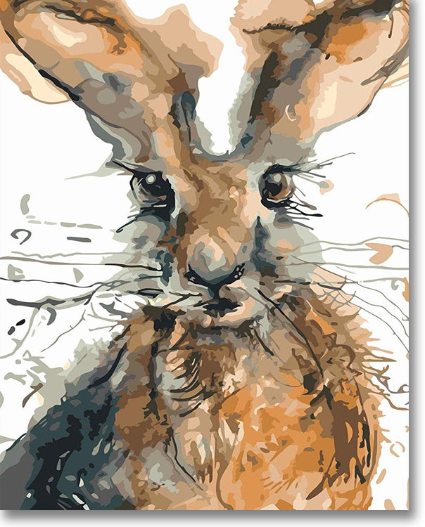 Messy Rabbit - Paint By Numbers