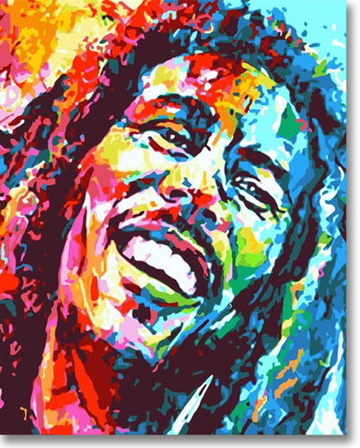 Colorful Bob Marley - Paint By Numbers