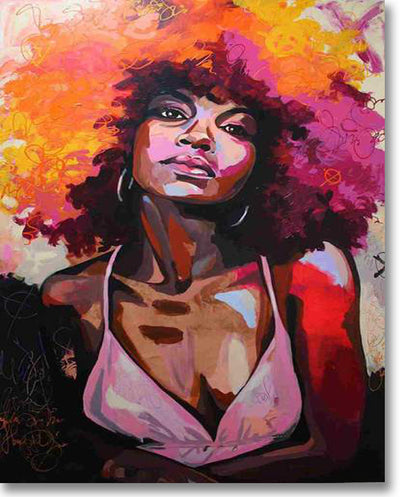 Redhead African Woman - Paint By Numbers