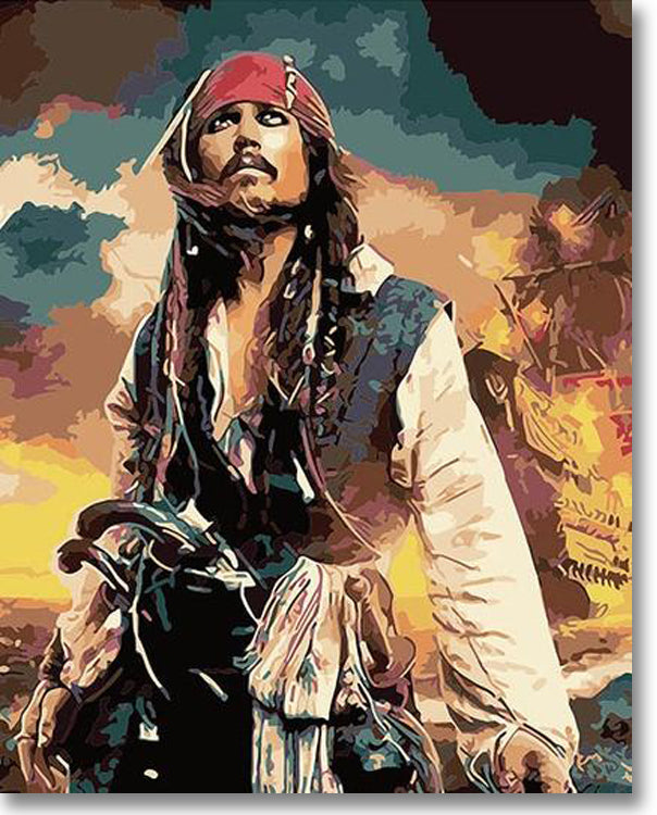 Pirate Jack Sparrow - Paint By Numbers