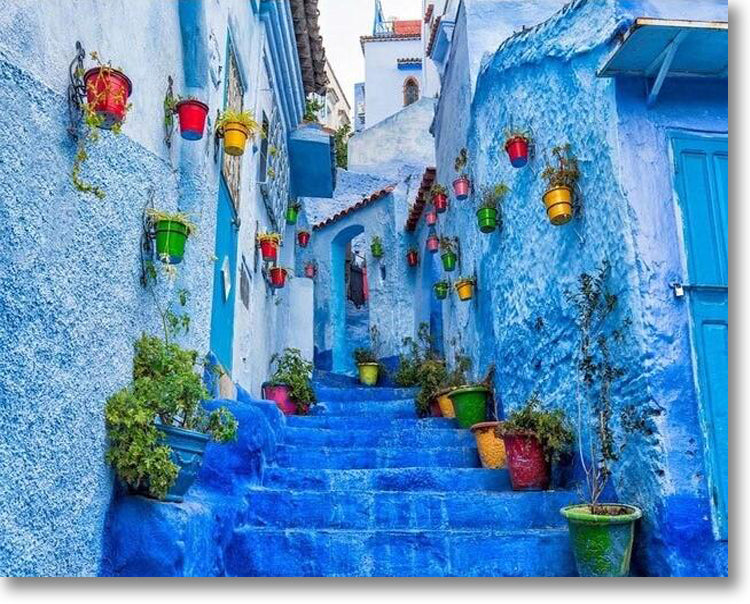 Chefchaouen The Blue Pearl - Paint By Numbers