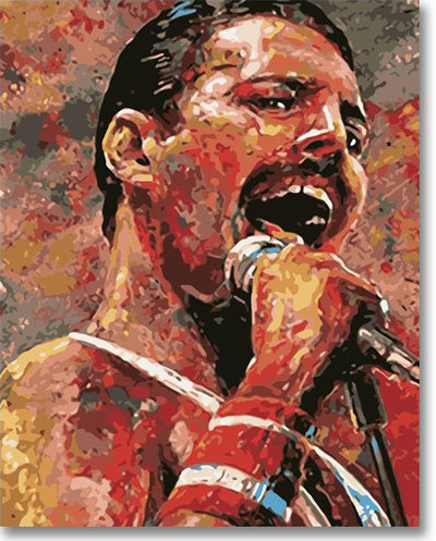 Freddie Mercury Aka Queen - Paint By Numbers