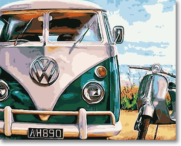 VW Bus - Paint By Numbers