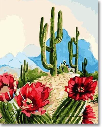 Desert Cactus - Paint By Numbers