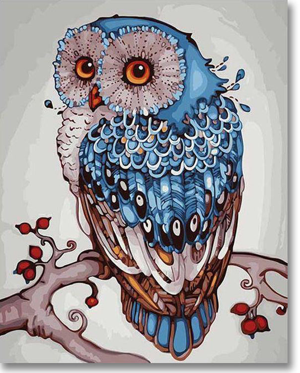 Abstract Owl - Paint By Numbers