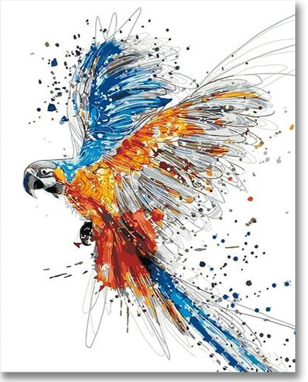 Coloring Parrot - Paint By Numbers