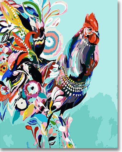 Colorful Chicken - Paint By Numbers