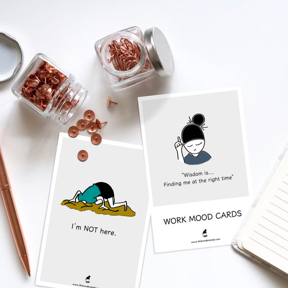 Work Mood Cards, Set of 12 cards