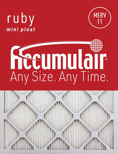 25x28x1 MERV 11 Mini-Pleated Air Filter