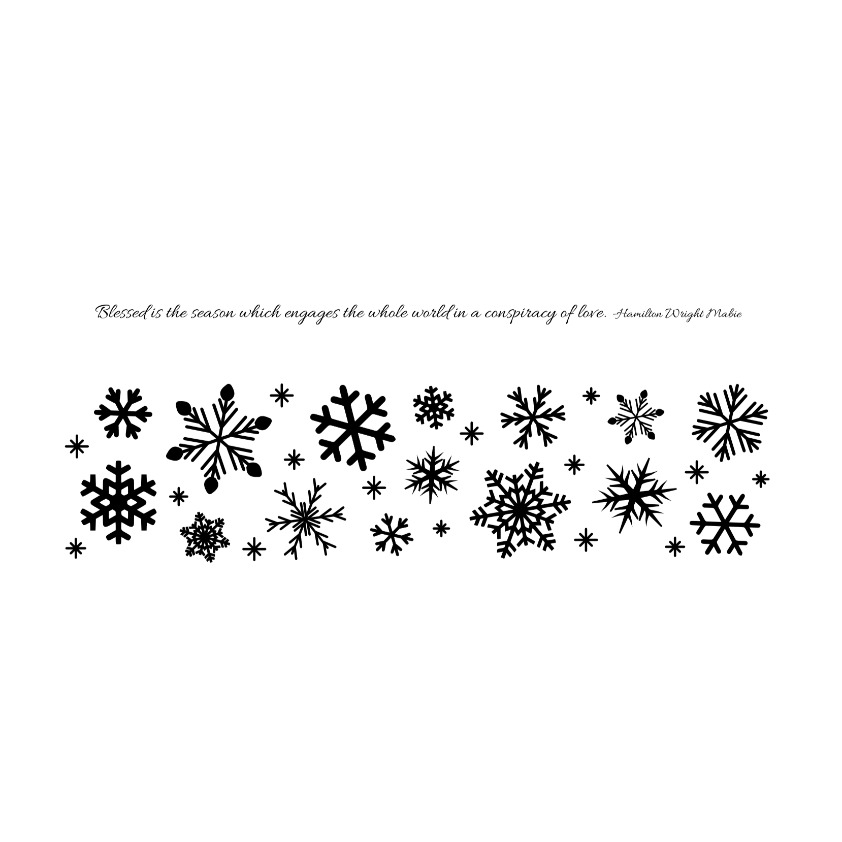 Shado Candle: Snowflake